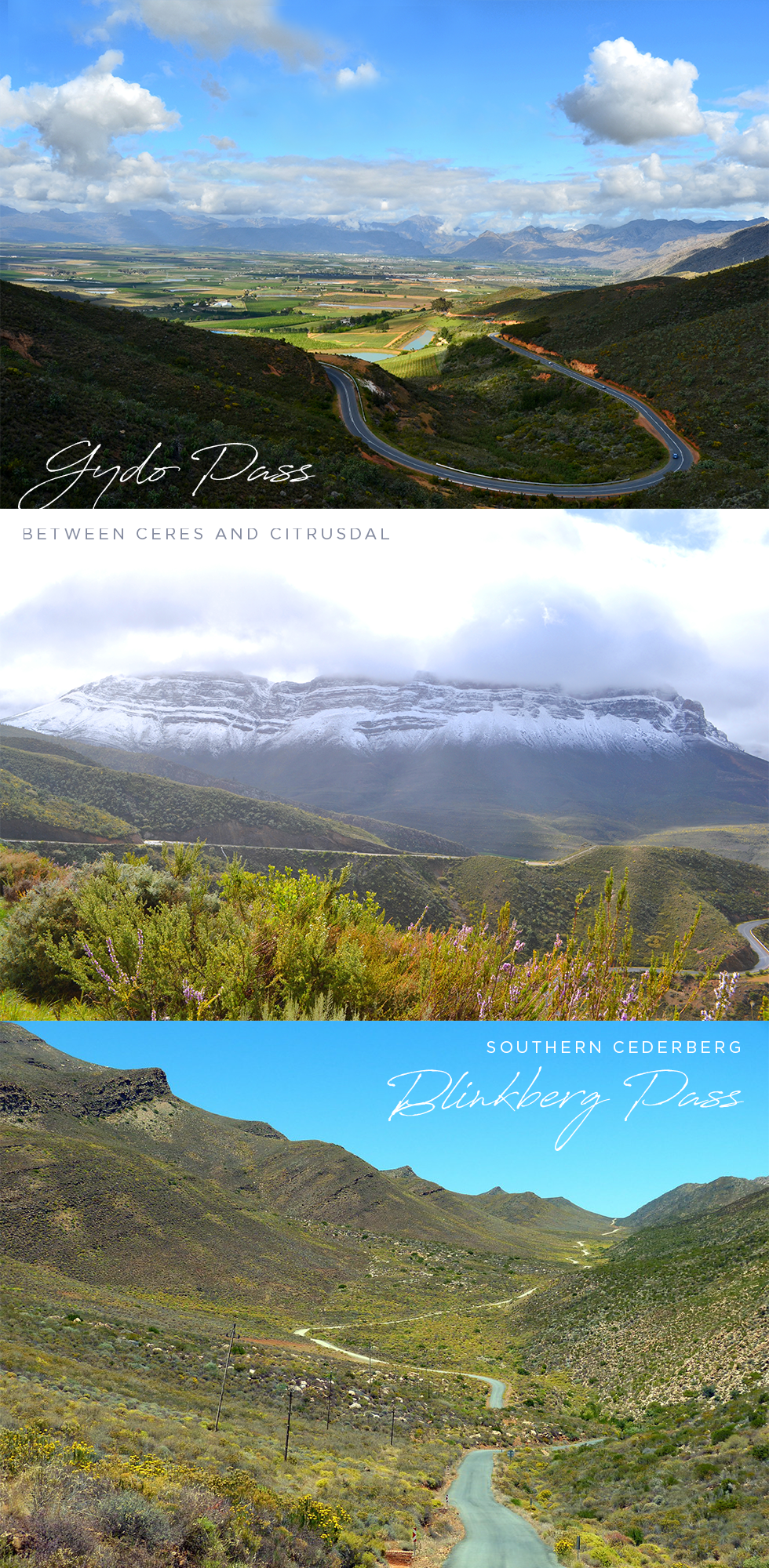 Gydo Pass (Ceres/Op Die Berg) and Blinkberg Pass (Cederberg) - mountain passes in South Africa
