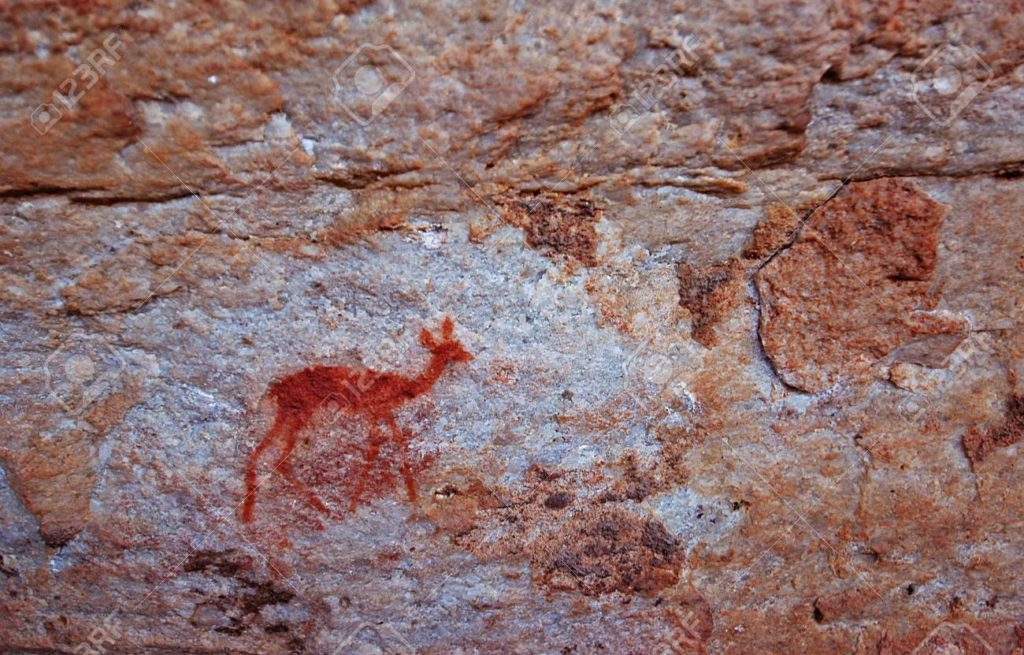 Cederberg - rock painting of a little antelope