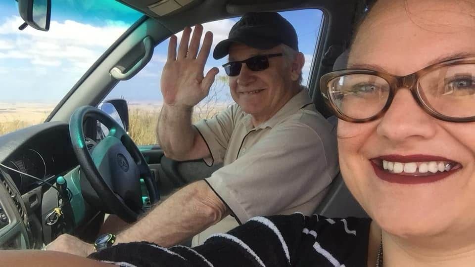 Lisa Roberts with Trygve Roberts on the Montagu Explorer Tour - Mountain Passes South Africa